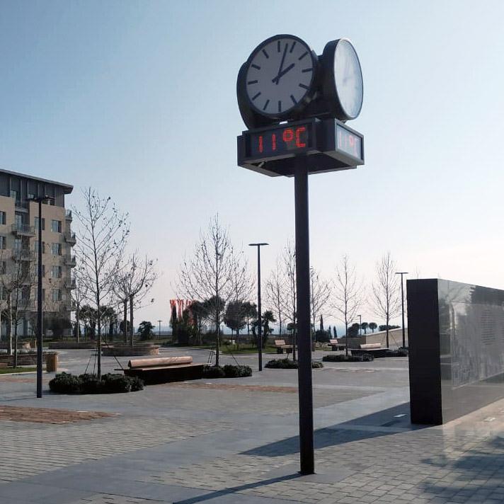Großuhr mit digitalen Thermometer