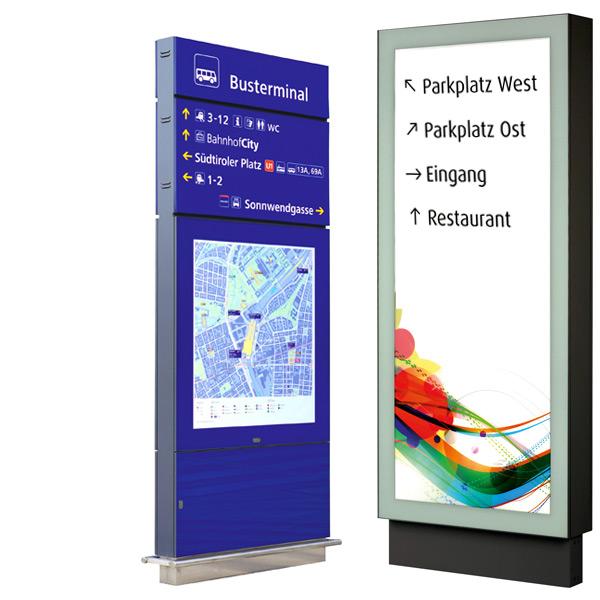 Digitale und analoge Orientierungs- und Leitsysteme