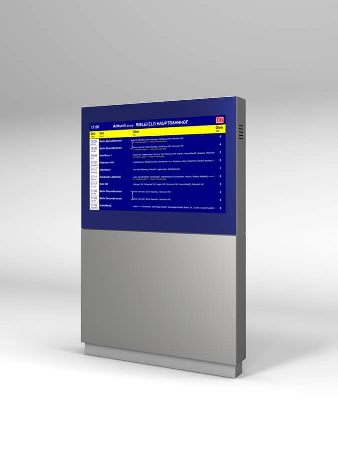 Monitor-Stele mit zweiten Monitor auf der Rückseite
