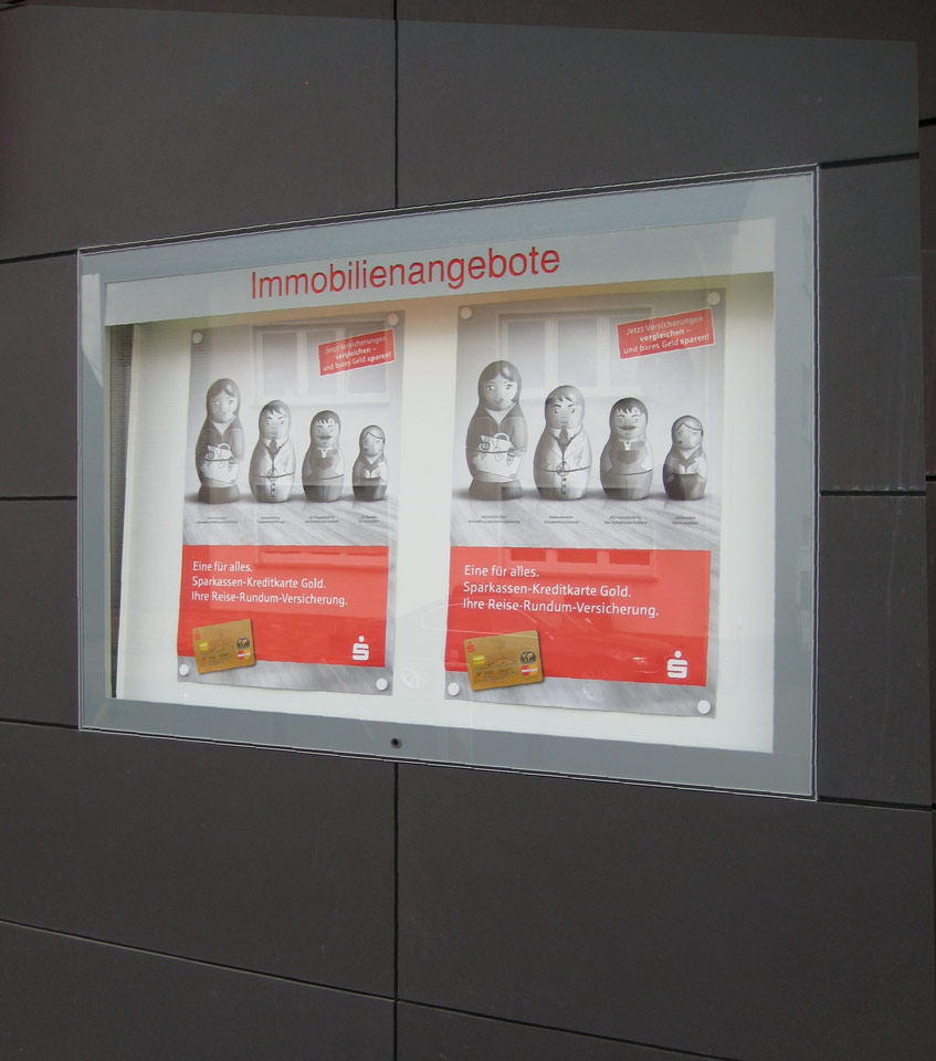 Schaukasten Sparkasse in Bad Oeynhausen