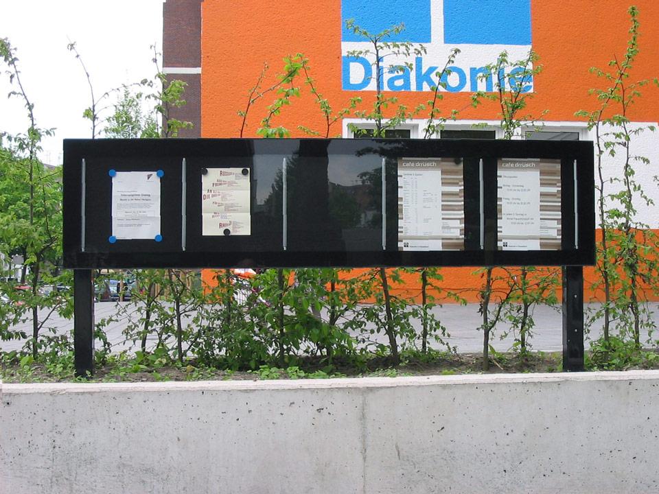 Schaukasten der Diakonie Düsseldorf