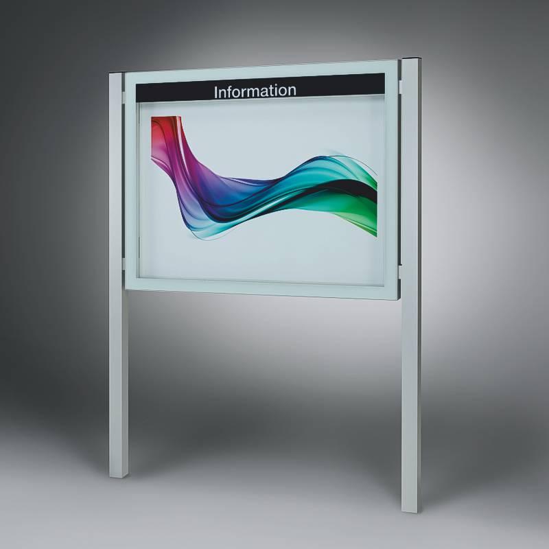Design Schaukasten für Draußen mit Standbeinen