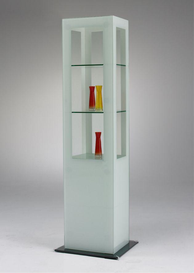 Design-Säulenvitrine SIGNUM out of the blue