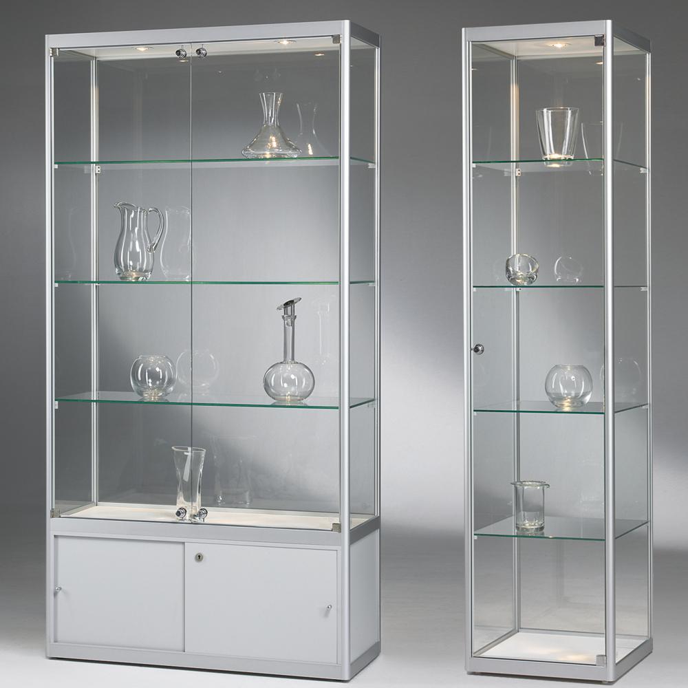 glasvitrinen g nstig und beleuchtet st vitrinen. Black Bedroom Furniture Sets. Home Design Ideas