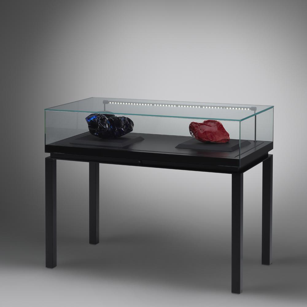 Tischvitrine aus Glas