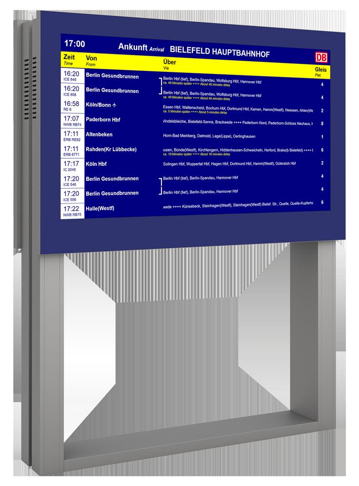 DFI Monitor freistehend Infosystem
