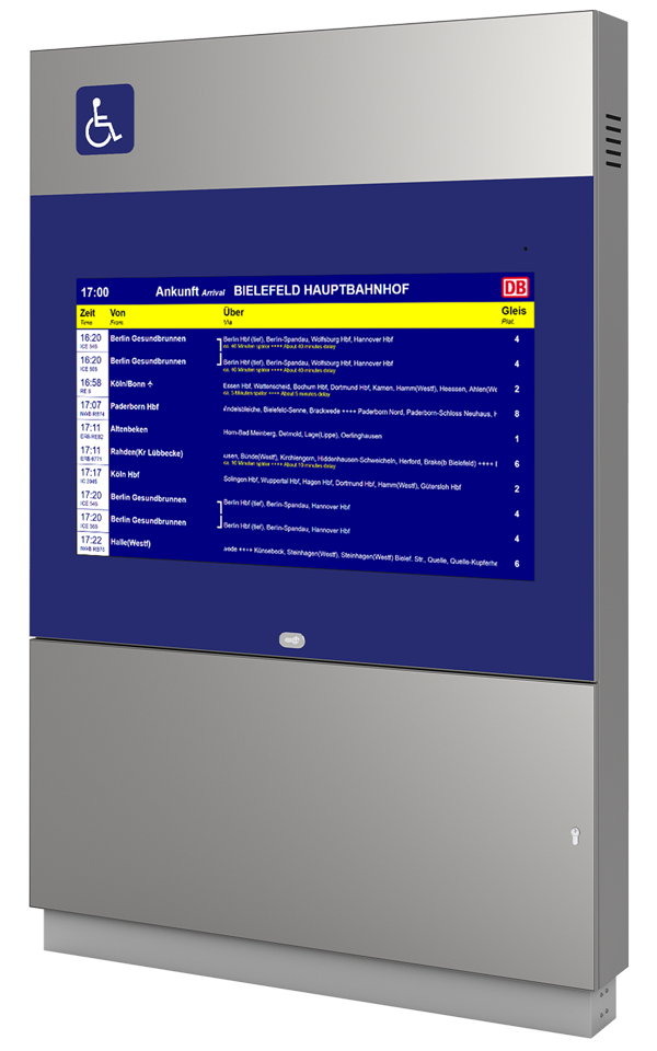 DFI Barrierefreie Monitor-Infostele