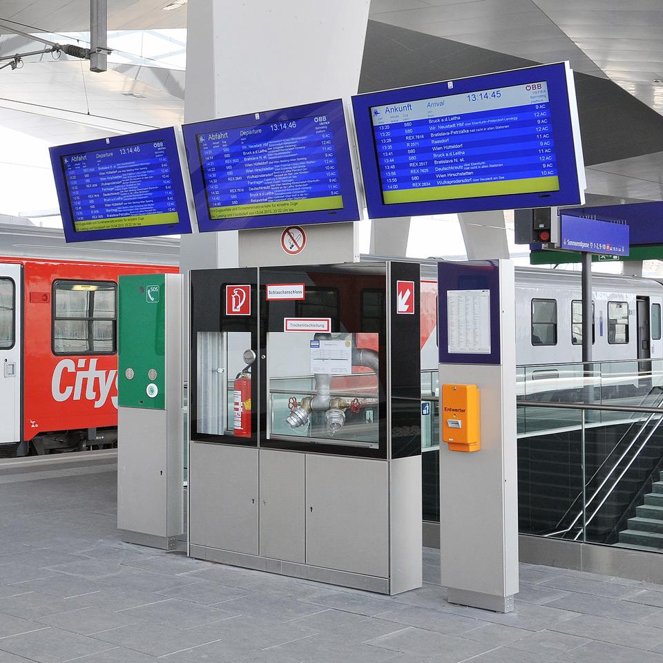 Fahrgastinformationssystem Designlinie Informationselemente