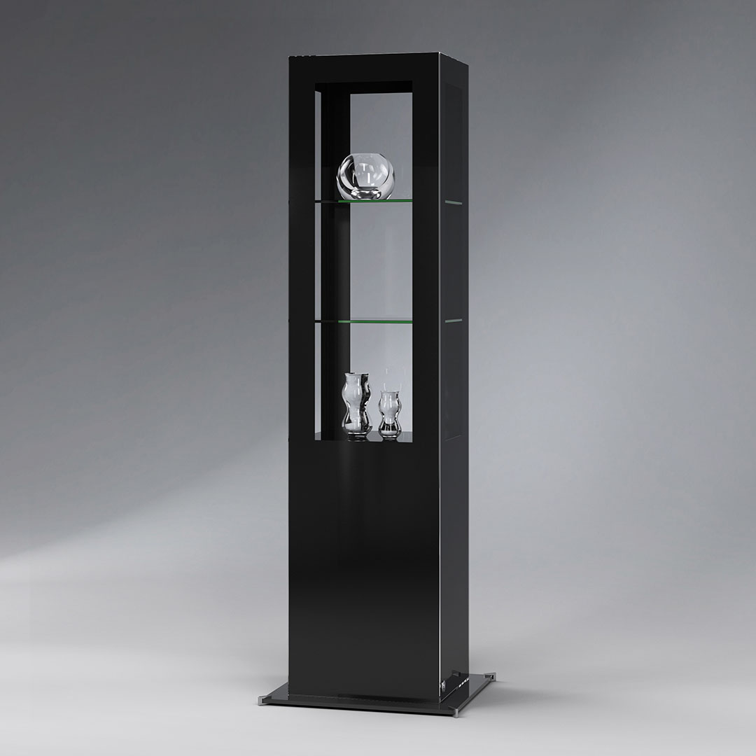 Design-Säulenvitrine SIGNUM out of the blue