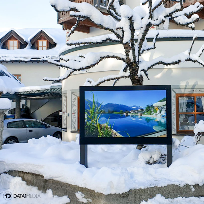 Digital Signage im Skigebiet