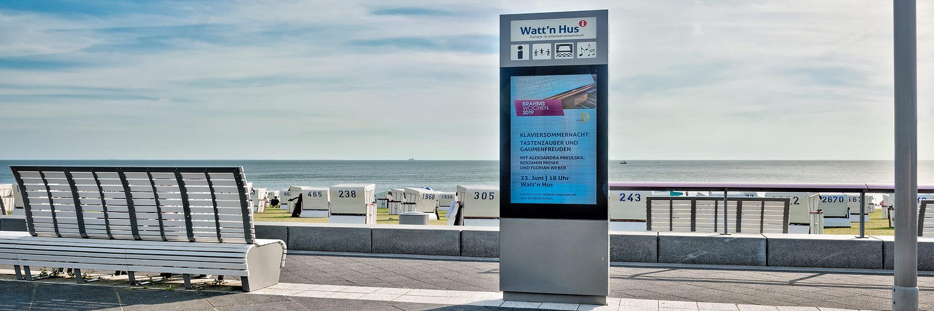 Tourismusmarketing mit Digital Signage in Büsum