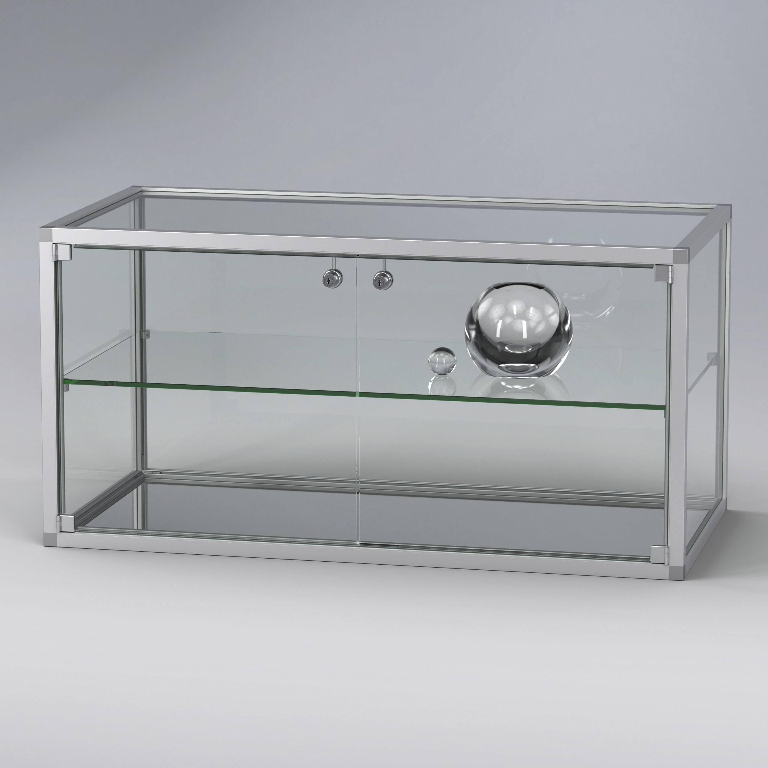 KUBUS Quader Vitrinenenelement Glas und Aluminium