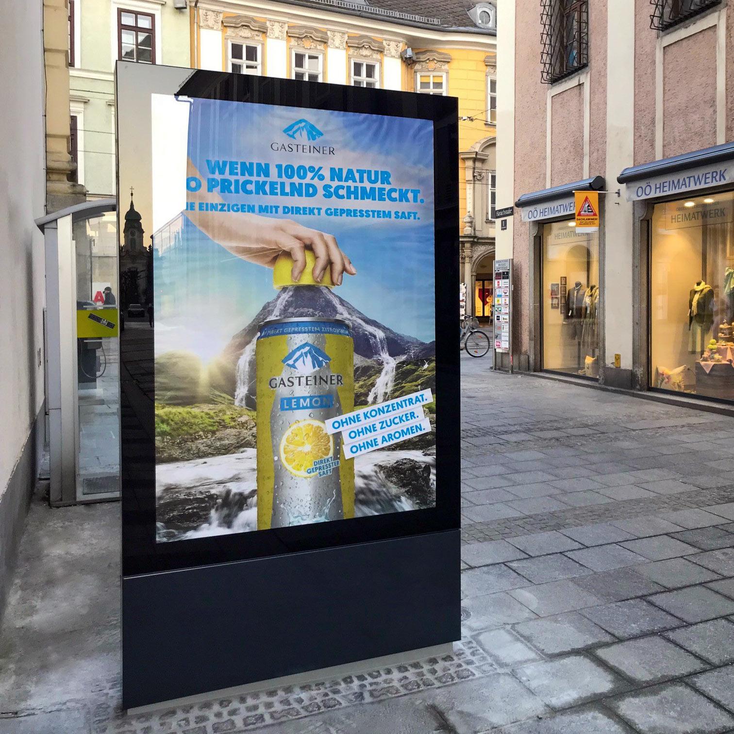 City-Light-Vitrine Oberösterreich