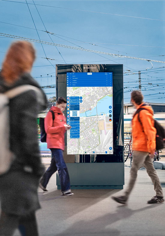DOOH Touch Monitor Stele