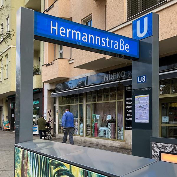 Grenanderbogen Berlin Hermannstraße U-Bahn