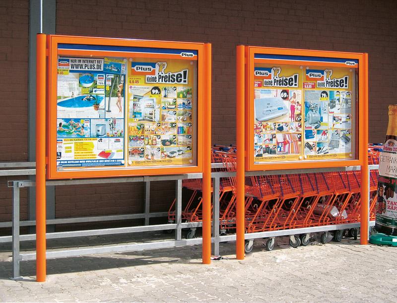 Schaukästen Einzelhandel Filiale