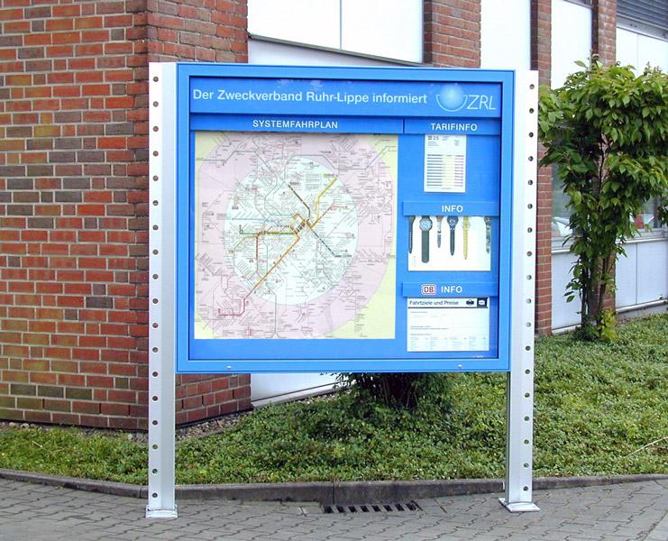 ÖPNV Fahrplan Schaukasten Ruhr-Lippe