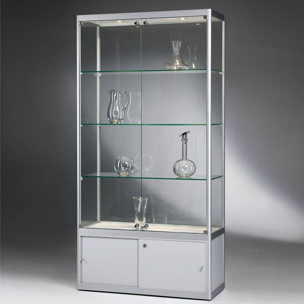 glasvitrine versus mit unterschrank im shop st vitrinen. Black Bedroom Furniture Sets. Home Design Ideas